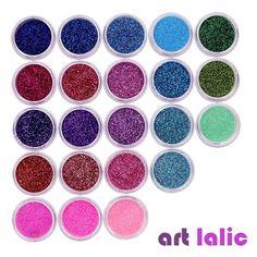 Item Type: Nail GlitterModel Number: nail glitterNET WT: 40 potsBrand Name: Art lalic Nail Art Rhinestones, Glitter Nail Art, Essie Nail Polish Colors, Nail Colors, Nail Equipment, Acrylic Nail Tips, Rainbow Nails, You Nailed It, Color Mixing