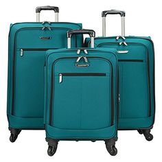 Travelers Choice 3 Piece Lightweight Expandable Spinner Luggage Set -- This is an Amazon Affiliate link. More info could be found at the image url.