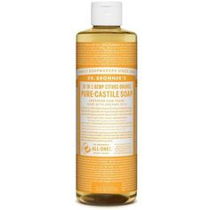 Dr. Bronner Organic Citrus Castile Liquid Soap (473ml) featuring polyvore, beauty products, bath & body products and body cleansers