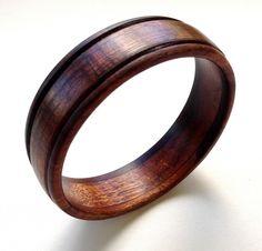 Koa Wood Bangle Bracelet by UpcountryDesign on Etsy