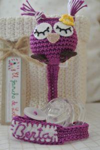 ༺༺༺♥Elles♥Heart♥Loves♥༺༺༺ ........♥Crochet Amigurumi♥........ #Amigurumi #Patterns #Crochet #Softies #Childrens #Toys #Handmade #Teddy #Doll #Tutorial #Patterns #Collectable~ ♥Beautiful Crochet Work By El Gancho De Lola Pacifier Owl