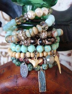 Stacking stretch bracelets