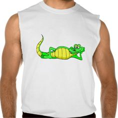 Alligator Posing Sleeveless T-shirts Tank Tops