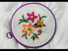 Hand Embroidery - Raised Fishbone and Feather Stitch - YouTube