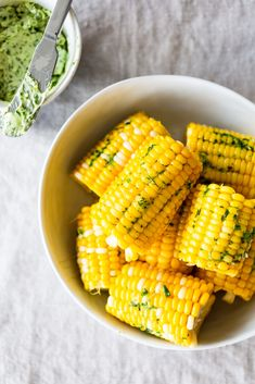 Let the countdown to summer begin with this Iowa-favorite: simple, sweet corn on the cob slathered with homemade garlic-herb butter. Steam Vegetables Recipes, Steam Recipes, Steam Veggies, Steamed Vegetables, Corn Cob Recipes, Vegetable Recipes, Sweet Corn Recipes, Rice Recipes, Recipies
