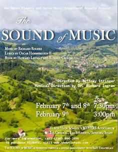 The Huron Players to Perform The Sound of Music Next Weekend #HuronHighSchool #SoundofMusic