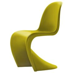 Vitra Panton Chair in Chartreuse AllModern ❤ liked on Polyvore