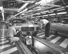 1970 Cadillac Models on Assembly Line