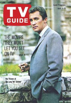 "TV Guide: April 9, 1966 - Roy Thinnes of ""The Long Hot Summer"""