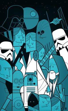 Ale Giorgini - Geometric Retro Movie Posters: Star Wars