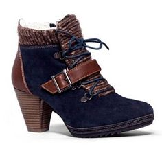 MUK LUKS Leah Women's Lace-Up Ankle Boots