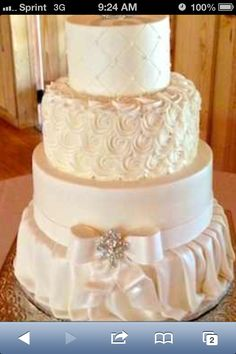 Wedding cake...I love how each layer is different