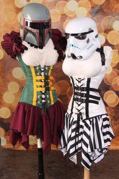 NEW Waist 26 to 28 Boba Fett Star Wars Corset by damselinthisdress, $149.00