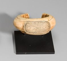 Bracelet, Cameroon width 4 3/8in (11.2cm)  Ivory (Broken and repaired at one end)  Provenance: Marc & Denyse Ginzberg, New York