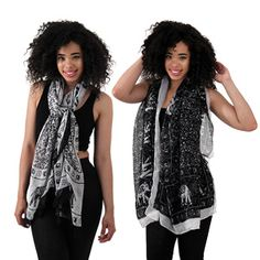 Illustrious Elephant Scarf $6.95 Wrap up in the cultural beauty of this illustrious elephant scarf. C-A192  See more here: africaimports.com #scarf #accessories #elephant