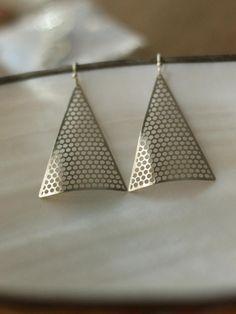 Miranda Frye -Silver Pyramid Earrings