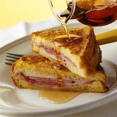 French Toast mit Schinken-Käsefüllung | http://eatsmarter.de/rezepte/french-toast-mit-schinken-kaesefuellung