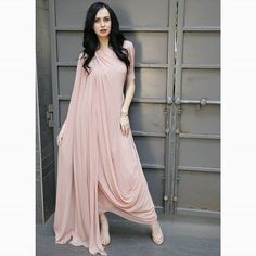 Draped kurta with an embellished shoulder. Outfits are more wearable when they can be dressed up or dressed down easily and this does just that! Indian Evening Gown, Evening Gowns, Drape Gowns, Draped Dress, Bridal Lehenga Choli, Saree Gown, Indian Dresses, Indian Outfits, Indian Designer Wear