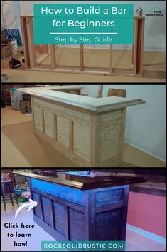 We provide a step by step guide on how to make a custom bar for your basement or .We provide a step by step guide on how to make a custom bar for your basement Home Bar Plans, Basement Bar Plans, Basement Bar Designs, Home Bar Designs, Basement Remodeling, Basement Bars, Man Cave Basement, Basement Ceilings, House Remodeling