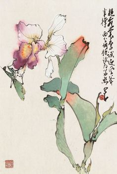 ZHAO SHAO'ANG (1905-1998) | Orchid | 20th Century, Paintings | Christie's Japanese Watercolor, Japanese Painting, Watercolor Flowers, Watercolor Paintings, Japanese Art Samurai, Chinese Painting Flowers, Paintings Famous, Art Paintings, Japanese Art Modern