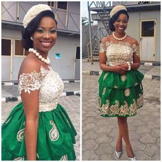 Kente Fabric Designs: See These Kente Styles For Fashionable Ladies - Lab Africa African Print Wedding Dress, Nigerian Wedding Dress, African Wedding Attire, African Attire, Best African Dresses, African Lace Styles, African Fashion Dresses, African Clothes, Ghanaian Fashion