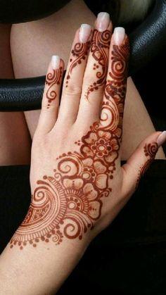 Henna Flower Designs, Pretty Henna Designs, Modern Henna Designs, Finger Henna Designs, Latest Bridal Mehndi Designs, Full Hand Mehndi Designs, Henna Art Designs, Mehndi Designs For Beginners, Mehndi Designs For Fingers
