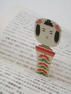 Kokeshi bookmark by cochae, Japan