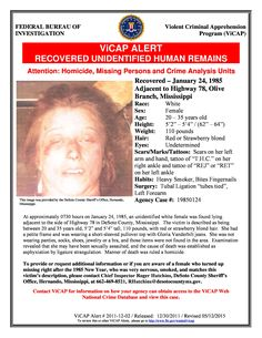 Identify DeSoto County Jane Doe!