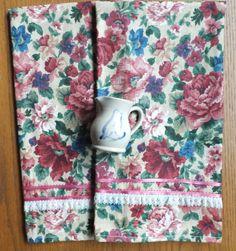 2 Dish Towels Tea Towels Victorian Flower Garden by juliegalbraith, $15.00