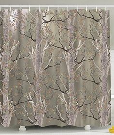 Forest Beige Fabric Shower Curtain - Home Decorators Collection ...