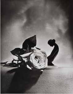 Horst P. Horst. Eva with a Rose.