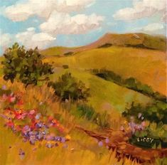 """Daily Paintworks - """"Beauty Hike"""" - Original Fine Art for Sale - © Libby Anderson"""
