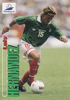 1998 Panini World Cup #82 Luis Hernandez Front