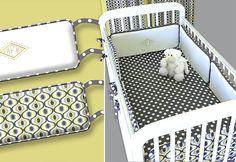 Crib Bumper Tutorial (plus others for crib sets) Baby Crib Bumpers, Cot Bumper, Baby Crib Bedding, Nursery Crib, Grey Bedding, Baby Bumper, Crib Bumper Tutorial, Deco Kids, Diy Crib