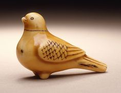 Pigeon-Shaped Flute Ōhara Mitsuhiro (Japan, Ivory with staining, sumi 1 x 1 x in. Betye Saar, Christian Marclay, Website Sign Up, Japanese Characters, Whittling, Japanese Artists, Art Music, Pigeon, Contemporary Artists