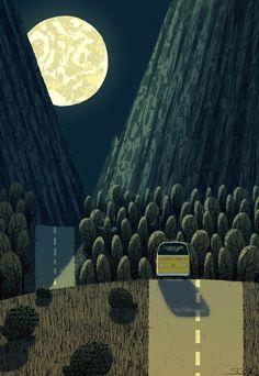 Little miss moonlight Art Print