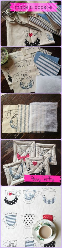 Learn how to make coasters using our teacups tea towel - full instructions over on our blog.