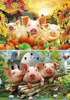 This Little Piggy, Little Pigs, Pig Crafts, Cartoon Cow, Pig Drawing, Farm Fun, Pig Art, Flying Pig, Cute Pigs