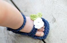 The cutest  little crocheted sandals! Little Birdie Secrets