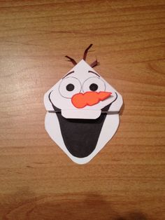 Frozen  Olaf  Corner Bookmark by NivekMarks on Etsy