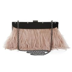 BCBG Max Azria Portia Feather Clutch. Feather you like it or not...this clutch is HOT!