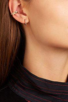 b0ef4f5a4 ANITA KO Huggy 18-karat rose gold diamond earrings$1,670 Gold Diamond  Earrings, Top