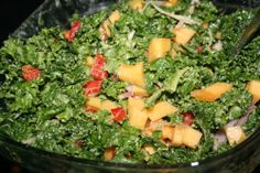 Kale + Winter Squash Salad #triedaversion #crysrose29 made without quinoa or dressing