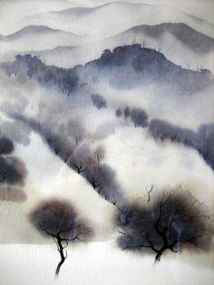 """artemisdreaming: """" California landscape, 1966 Eyvind Earle """""""