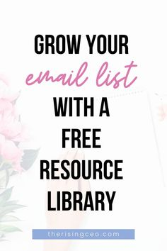 You know opt-in freebies are *the* best way to grow your email list. Click here to find out how you can compile your freebies into an irresistible free resource library