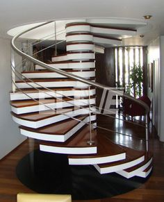 61 Fabulous Staircase Design Ideas for a Catchier Home - Are you looking for creative and catchy staircase design ideas that can change your home's look and make it more inviting? Staircase Handrail, Stair Railing Design, Home Stairs Design, Interior Stairs, House Design, Staircases, Stairs Architecture, Architecture Design, Escalier Design