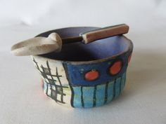 Cécile Brillet, stoneware cup and spoon