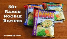 I needed this when I was in college!:O) Awesome! FIFTY Ramen Noodle Recipes- We.- I needed this when I was in college!:O] Awesome! FIFTY Ramen Noodle Recipes- Website- Growing Up Gabel… Ramen Noodle Recipes, Ramen Noodles, Pasta Recipes, Snack Recipes, Cooking Recipes, Vegetable Lasagna Recipes, Easy Eat, Gabel, Food Website