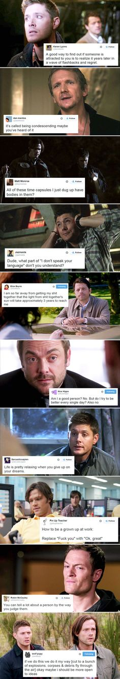 SPN + Twitter. Ok... This is one of the funniest things I've seen in along time!