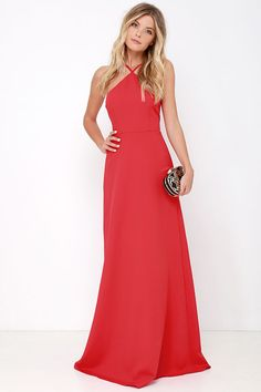 Tour de Force Red Maxi Dress at Lulus.com!